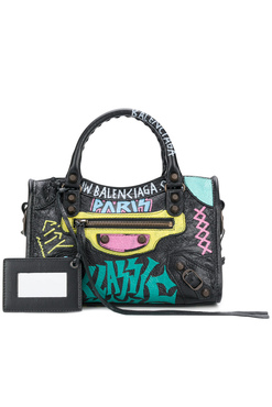 Balenciaga Сумка Mini Classic City с граффити