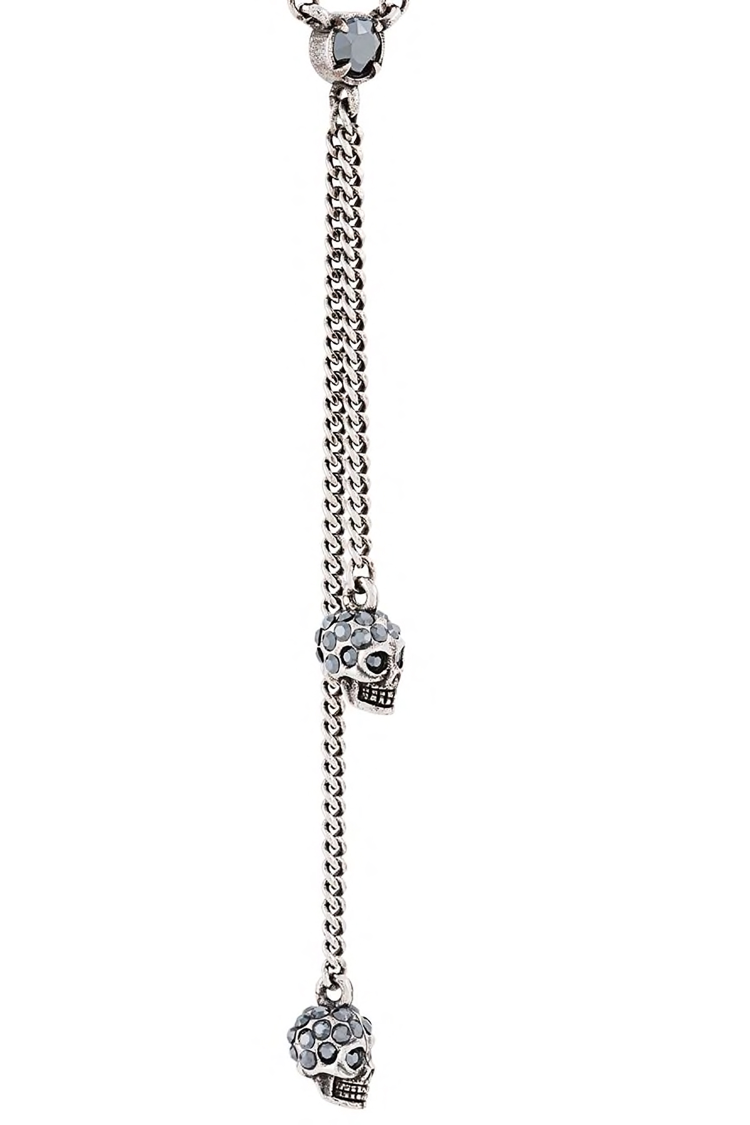 Alexander McQueen Колье 'Double Wrap Chain Skull '