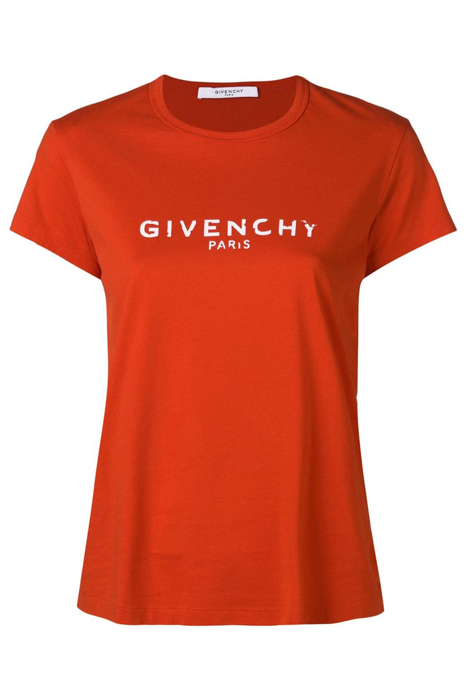 f436a27408b GIVENCHY Приталенная футболка с логотипом ...