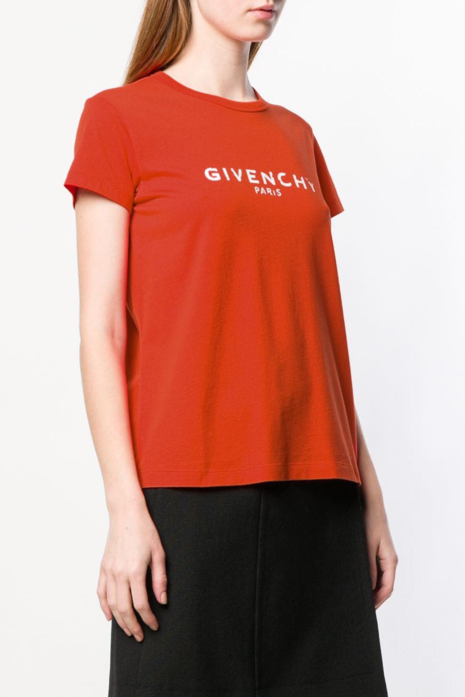 d76c17dcc32 ... GIVENCHY Приталенная футболка с логотипом ...