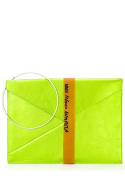 fd1bf06abeb5 MM6 MAISON MARGIELA Клатч-конверт с эффектом металлик