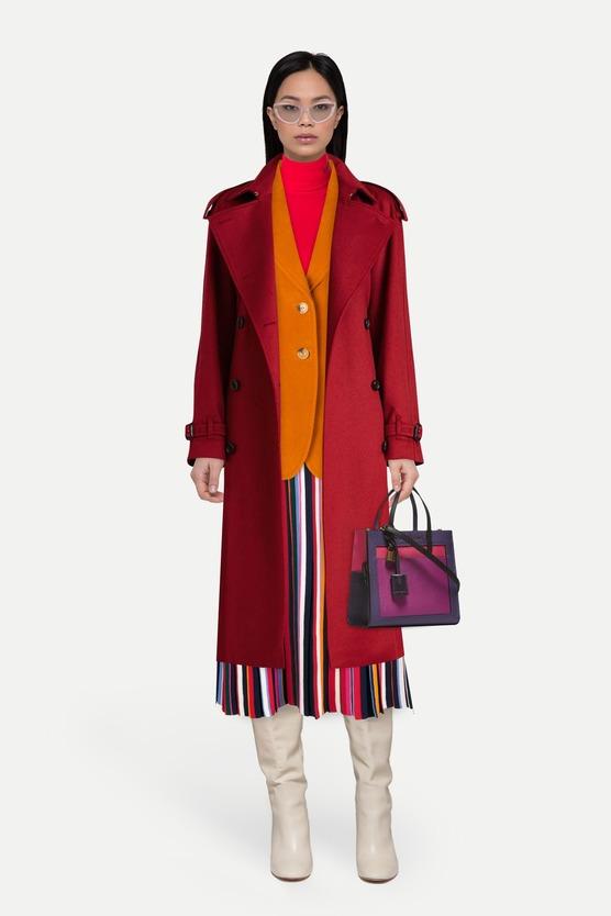 25a6705d3c0 Кашемировое пальто и блейзер с тремя накладными карманами — женский ...
