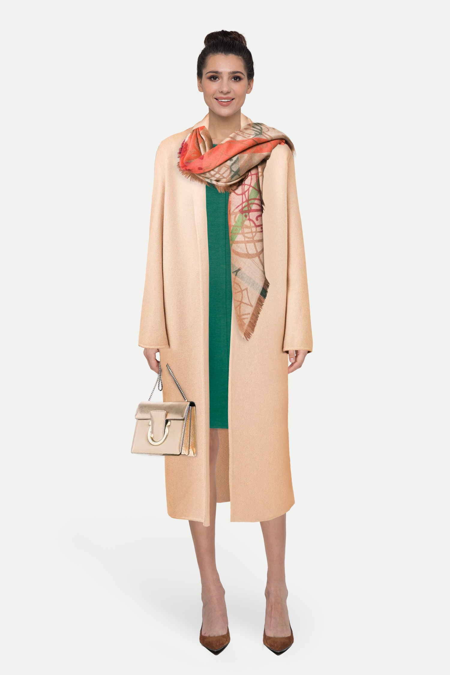 9e190fc013c8 Пальто в стиле оверсайз 'narrow' и короткое расклешенное платье — женский  образ на mark.moda