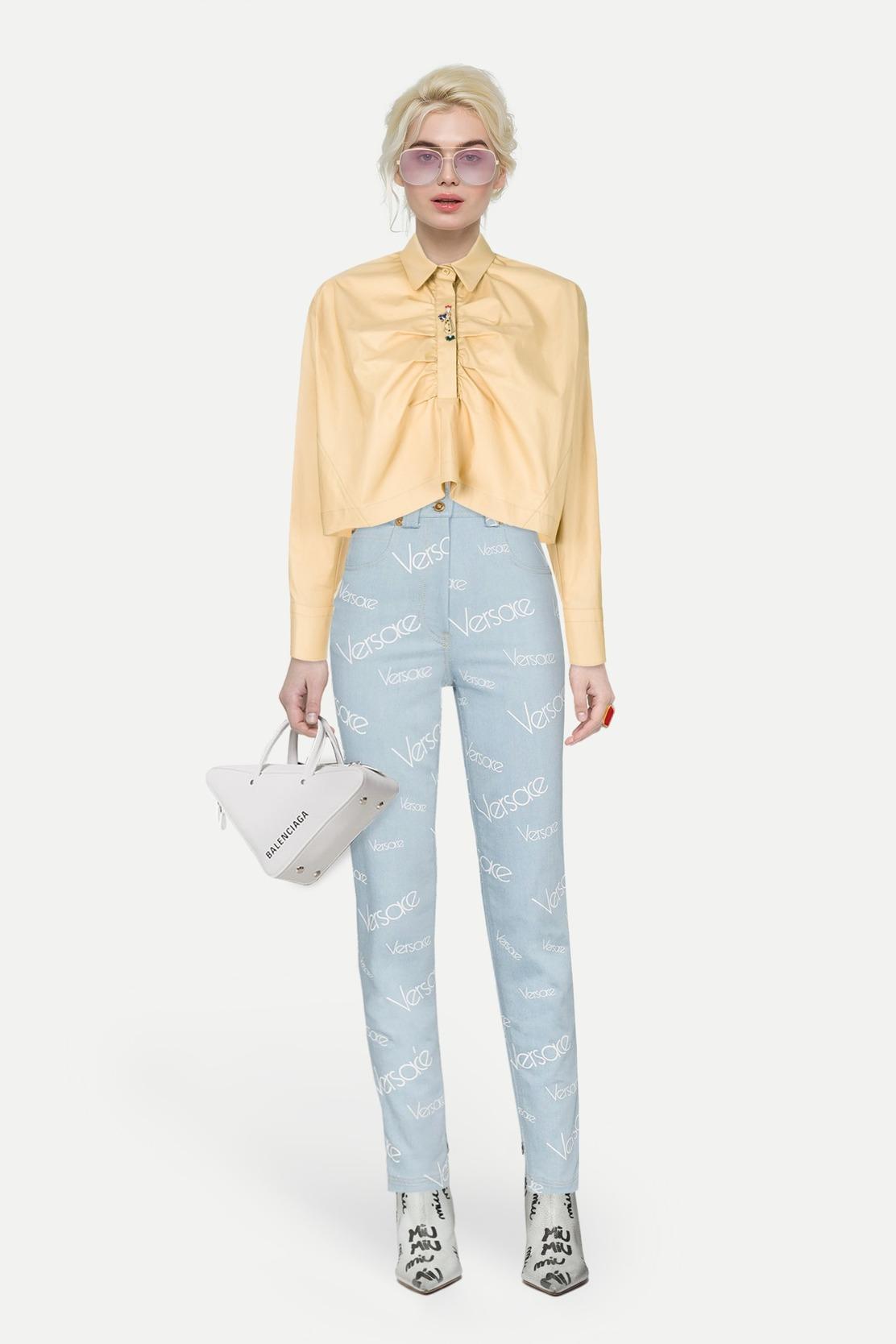 вторую часть блуза из шелка под джинсы фото планировал